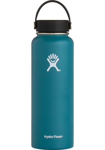 Hydro flask jade 40 oz wide mouth bottle keeps liquids cold for up to 24 hours and hot up to 12. BPA-free