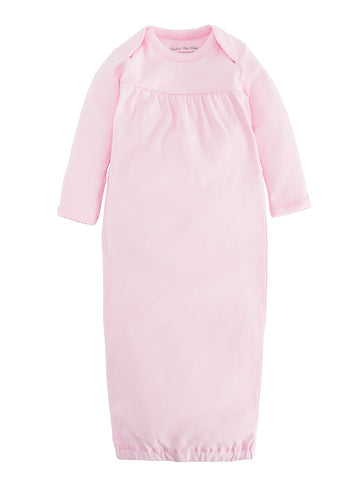 under the nile organic cotton baby gown, 0 to 3 month, pink