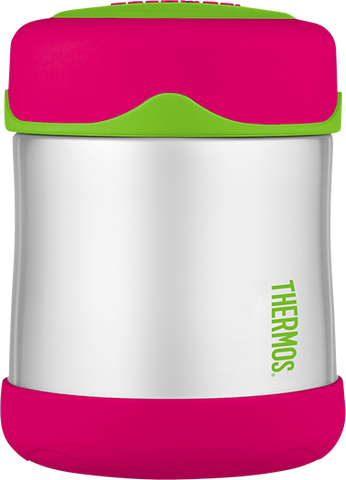 thermos foogo stainless steel food jar 10oz watermelon-green keeps food warm (5 hours) and cold (9 hours). bpa free
