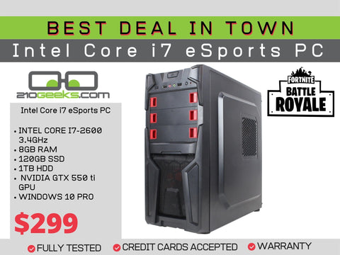 Budget eSports Gaming PC Intel Core i7 | 8GB | 120GB SSD & 1TB HDD | Nvidia GTX 550 ti
