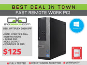 Dell Optiplex 3010 SFF PC Core i3-3220 3.3GHz | 8GB | 120GB SSD | HDMI | WIN 10