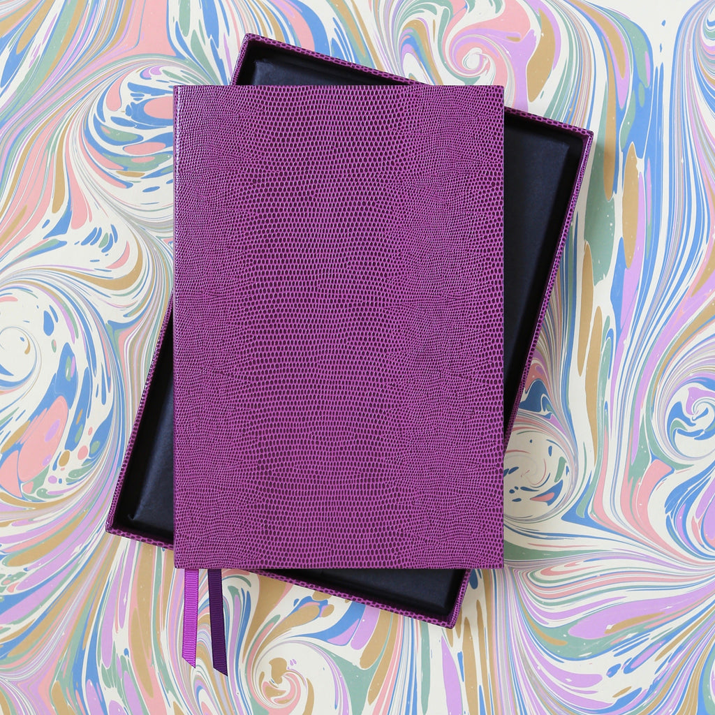 The BLOX A5 Notebook: Plum with Gift Box
