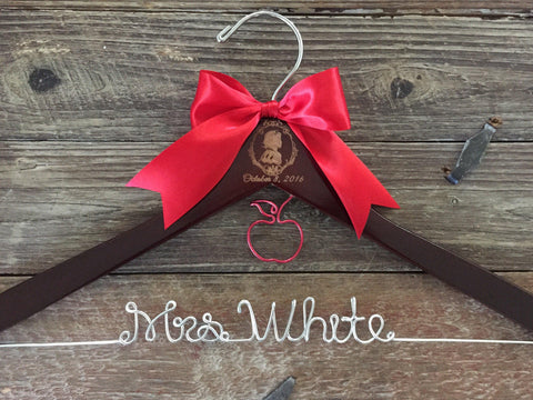 Wedding Hanger, Princess Bride Hanger, Personalized Hanger, Bridal Hanger, Princess Themed Wedding, Princess Hanger, Mrs. Han