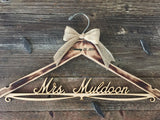 Distressed Bridal Hanger, Rustic Wedding Hanger, Bride Hanger, Wedding Hanger, Rustic Wedding, Shabby Chic Wedding, Fall Wedd
