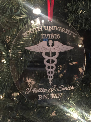 Doctor Gift, Graduation Christmas Ornament, Nurse Christmas Ornament, Doctor Christmas Ornament, Nurse Gift, White Coat Ceremony Gift