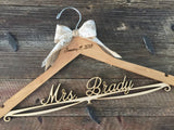 Wedding Hanger, Bride Hanger, Bridal Hanger, Rustic Wedding Hanger, Shabby Chic Wedding, Fall Wedding, Personalized Hanger