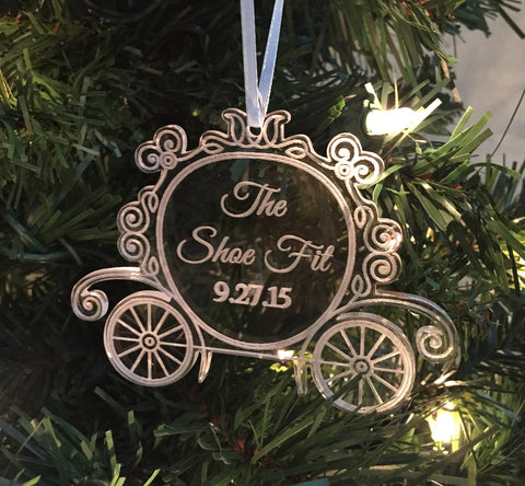 ORIGINAL CREATOR Princess Carriage Cinderella Ornament, Christmas Ornament, Disney Wedding, Cinderealla Ornament, Disney Christmas Ornament