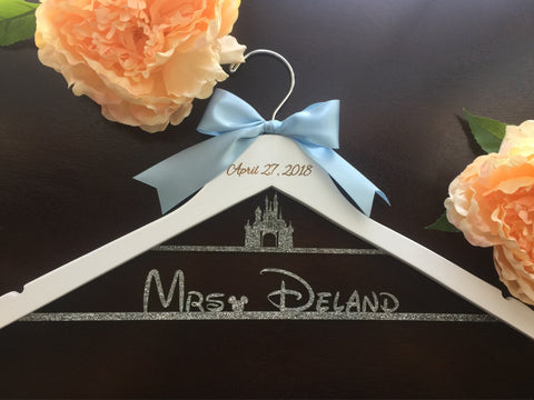 Disney Castle Hanger, Cinderella Wedding Hanger, Disney Bride Wedding, Wedding Castle Hanger, Disney Cinderella Castle, Cinderella carriage