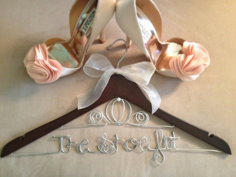 Bridal Hanger / Brides CINDERELLA Hanger / Disney Hanger / Personalized Hanger / Disney Bride / Wire Name Hanger / Wedding Hanger