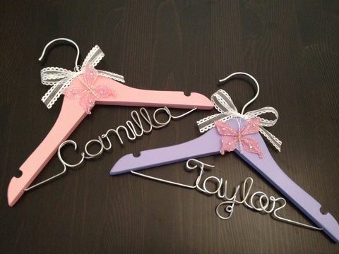 Baby Hanger / Children's Personalized Hanger - DESIGN YOUR OWN- Girl / Baby Shower Gift / Flower Girl GiftFrom GetHungUp