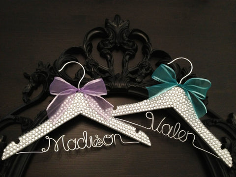 Rhinestone Bling Hanger / BLING Kids Hanger / Children's Personalized Hanger / Baby Shower Gift / Flower Girl Hanger / Flower Girl Gift