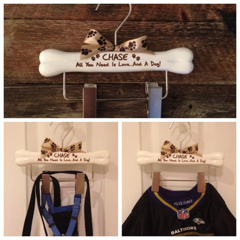 Dog Hanger, Dogs Leash Hanger, Dog Clothes Hanger, Engraved Dog Hanger, Personalized Dog Hanger
