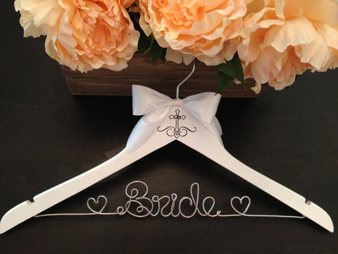 Bridal Hanger / Religious Wedding Hanger / Bride's Hanger / Wedding Dress Hanger / Personalized Hanger / Engraved Hanger