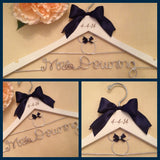 Disney Wedding / Disney Bride Hanger / Minnie Mouse Hanger / Wedding Hanger / Personalized Hanger / Bridal Hanger / Burned Wedding Date