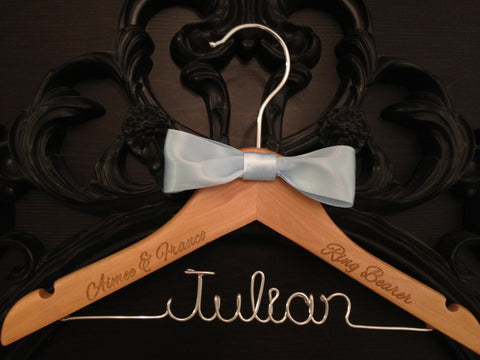 Ring Bearer Hanger / Ring Bearer Gift / Wedding Hanger / Bridal Hanger / Kids Hanger / Personalized Hanger / Childrens Hanger / Wedding Gif