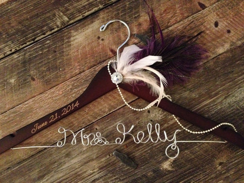 Great Gatsby Wedding Hanger, 1920's Bridal Hanger, Bride Hanger, Personalized Hanger, Gatsby Wedding, Bridal Hanger, 1920s Wedding
