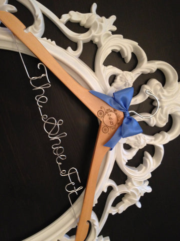Disney Wedding Dress Hanger / Cinderella Bride Hanger / Disney Wedding / Personalized Hanger / Bridal Hanger / Fairytail Wedding