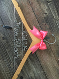 Bridal Hanger / Wedding Date Hanger / Brides Hanger / Personalized Custom Hanger / Wedding Hanger / Name Hanger / Personalized Gift