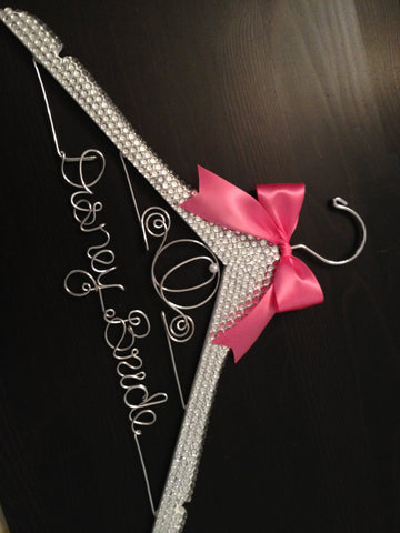 Disney BLING Wedding Hanger / Cinderella Bride Hanger / Brides Name Hanger / Bride Hanger / Cinderella Wedding / Disney Wedding