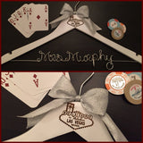 Las Vegas Wedding Hanger / Vegas Bride Hanger / Wedding Hanger / Bride Hanger / Vegas Wedding / Personalized Hanger / Bachelorette Party