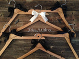 Bridal Party Hangers / Bridal Hanger / Burned Hanger / Personalized Hanger / Vintage Wedding / Rustic Wedding / Name Hanger / Wedding Hange