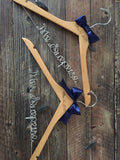Mr. and Mrs. Wedding Hangers, Bride & Groom Hangers, Wedding Hangers SET, Personalized Hangers, Bridal Hanger, Rustic Wedding, Rustic Hanger