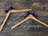 Bride & Groom Hangers, Mr. and Mrs. Wedding Hangers, Wedding Hangers SET, Personalized Hangers, Mrs. Hanger, Bridal Hanger, Rustic Wedding