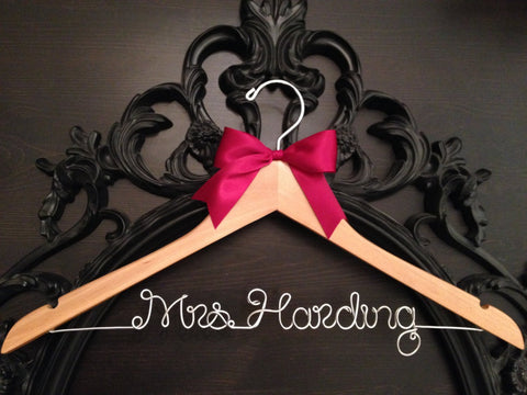 Bridal Hanger / Personalized Custom Hanger / Brides Hanger / Name Hanger / Wedding Hanger / Personalized Gift