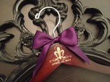 Fleur de lis Wedding Hanger, Bride Hanger, Fleur de lis Wedding, New Orleans Wedding, Personalized Gift, Wedding Hanger, Mrs. Hanger