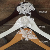 Vintage Lace Wedding Hanger, Bridal Hanger, Bride Hanger, Wedding Hanger, Rustic Hanger, Vintage Wedding, Personalized Hanger,Rustic Wedding