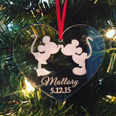 ORIGINAL CREATOR Disney Christmas Ornament, Disney Wedding Ornament, Mickey & Minnie Ornament, Cinderella Wedding, Engagement Ornament