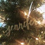 Name Christmas Ornament, Personalized Christmas Ornament, Christmas Ornament Gift, Glitter ornament
