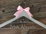 Brides Hanger / Bridal BLING Hanger with Wedding Date / Bling Hanger / Glamorous Wedding Hanger / Custom Hanger / Personalized Name Hanger