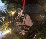 ORIGINAL CREATOR Disney Christmas Ornament, Disney Wedding Ornament, Lady & The Tramp Christmas Ornament, Lady and The Tramp, Engagement