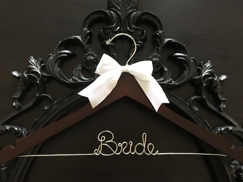 Bridal Hanger, Wedding Hanger, Personalized Custom Hanger, Brides Hanger, Bride, Name Hanger, Personalized Bridal Gift, Mrs. Hanger