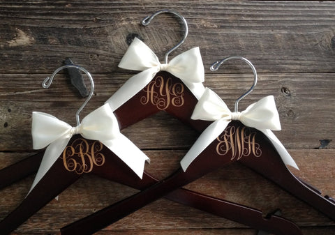 Bridesmaid Hangers, Monogram Hanger, Monogram, Bridesmaid Gift, Engraved Hanger, Personalized Hanger, Bridesmaid Dress Hanger, Name Hanger