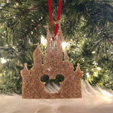 Disney Inspired Glitter Castle Ornament