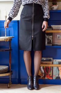 Ale Ravalli Pencil Black Skirt