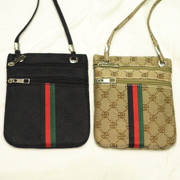 Black Mini Gucci Style Cross Body Bag