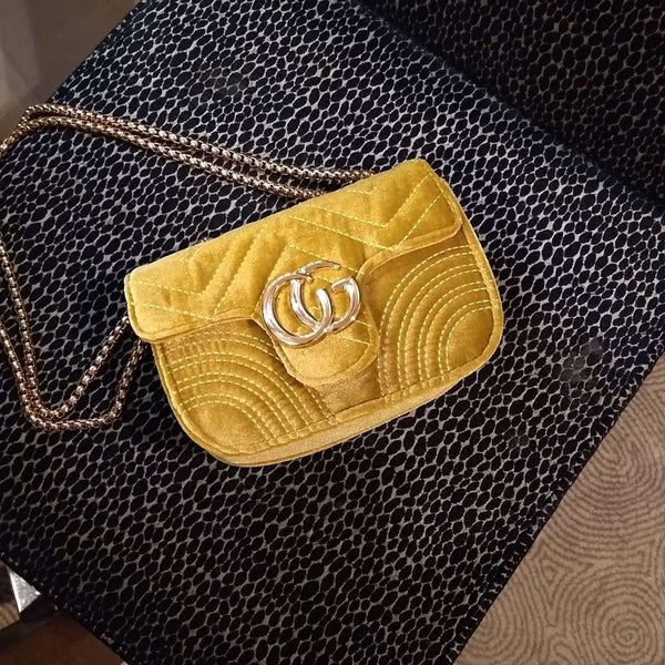 Gold Velvet Mini Bag - Cover appeal