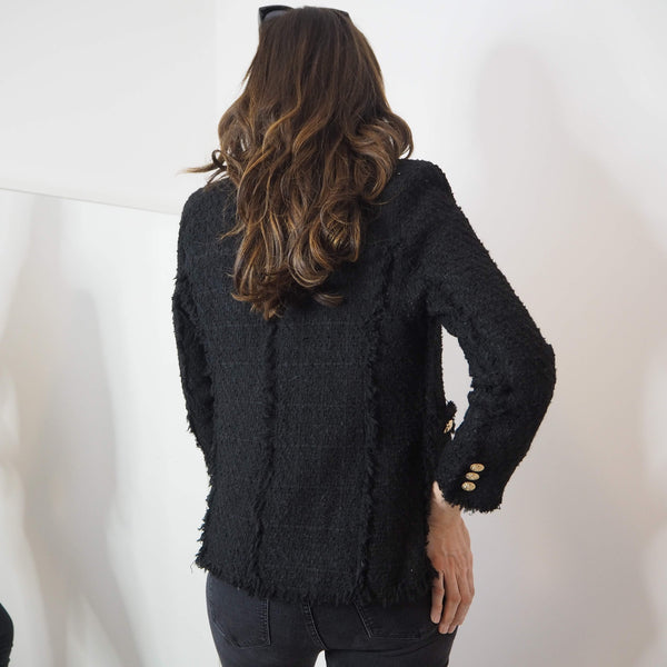 Black Boucle Blazer - Cover appeal