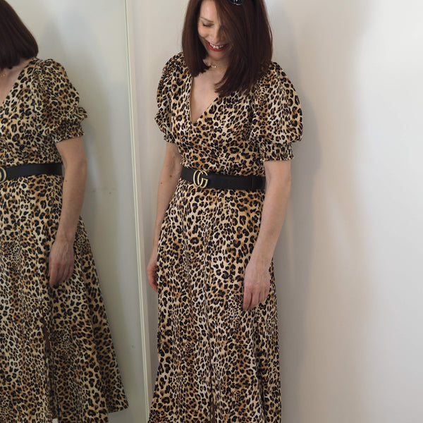 Leopard Print Midi Dress - Cover appeal