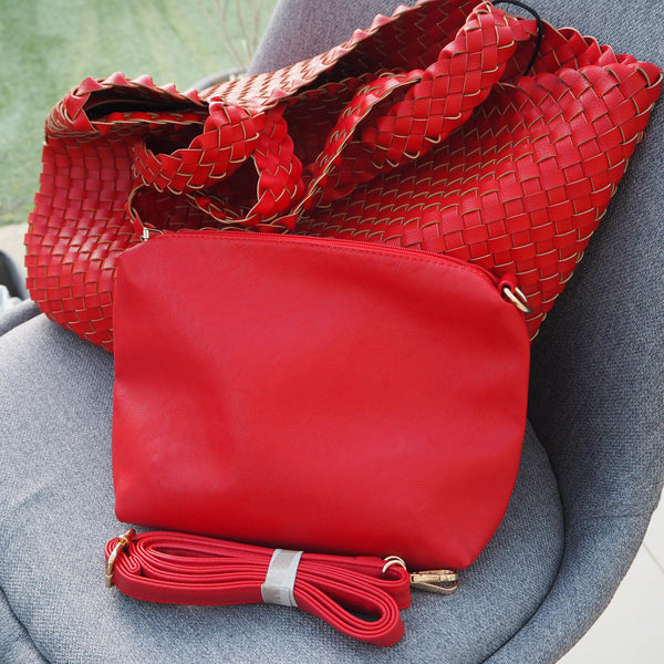 Large Red Weave Tote - Cover appeal