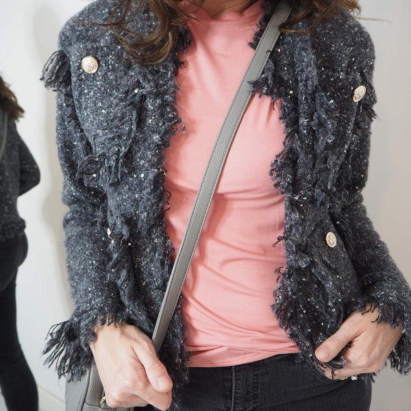 Grey Boucle Jacket - Cover appeal