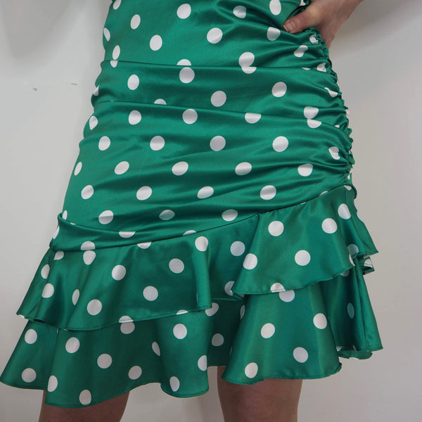Green Polka Dot Dress - Cover appeal