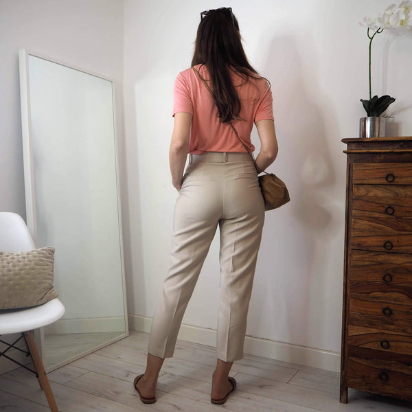 Belted High waisted tailored trousers
