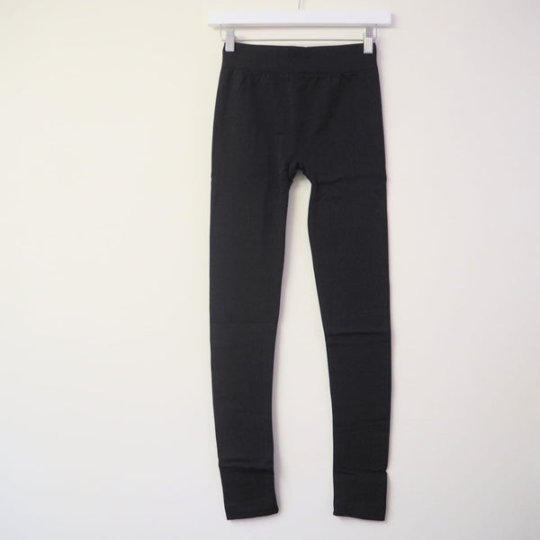 Black Seam Free Fleece Lined Leggings