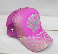 Mermaid Life Pink Iridescent Snapback Hat