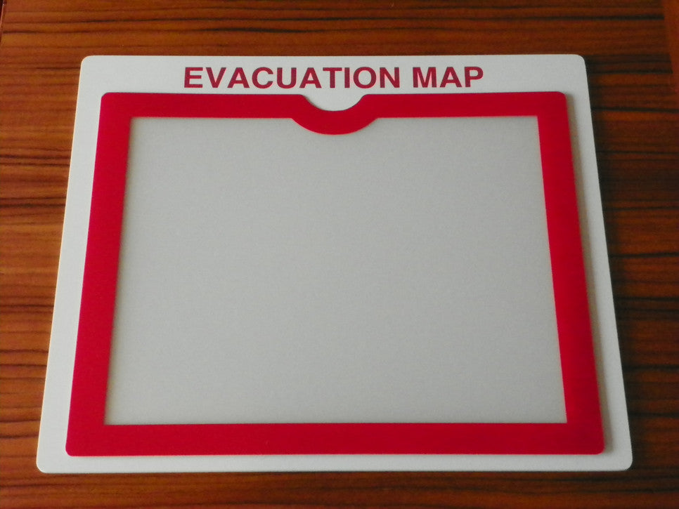 Evacuation Map Pocket Holder