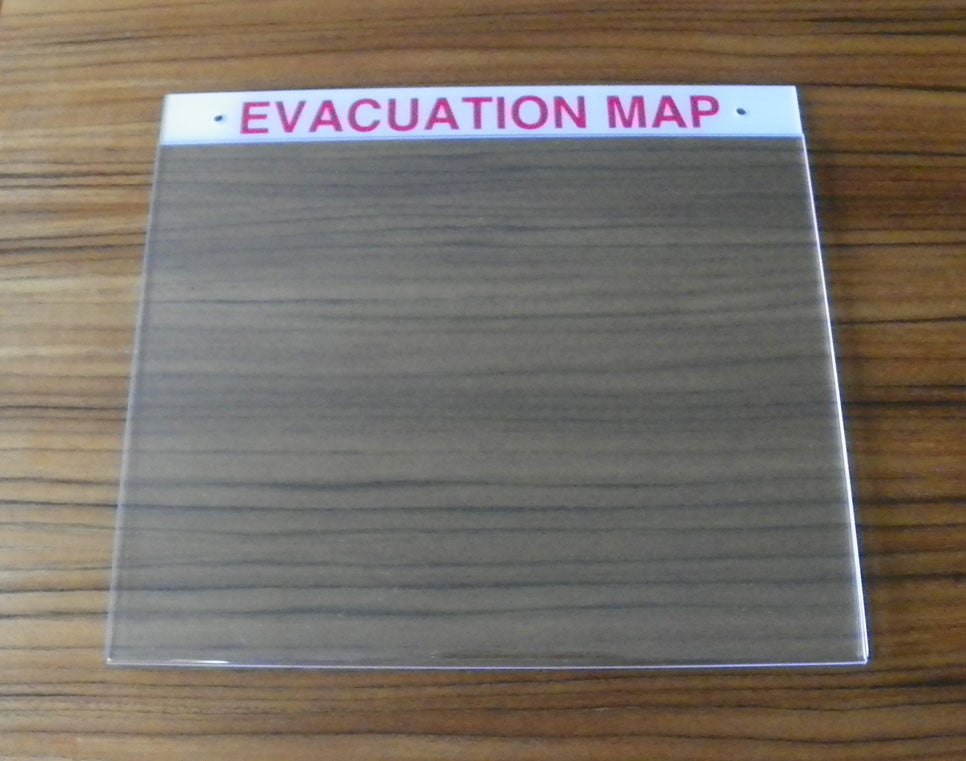 Deluxe Acrylic Evacuation Map Holder